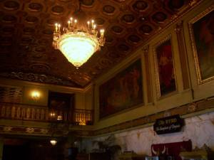 The lobby of the Byrd.  They used to have a fish pond where the popcorn maker now stands.